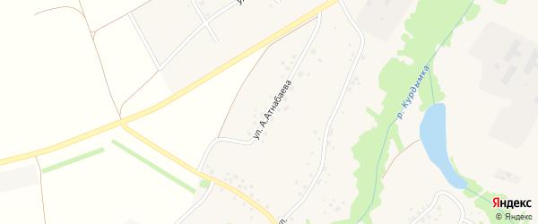 Улица А.Атнабаева на карте села Старого Курдыма с номерами домов