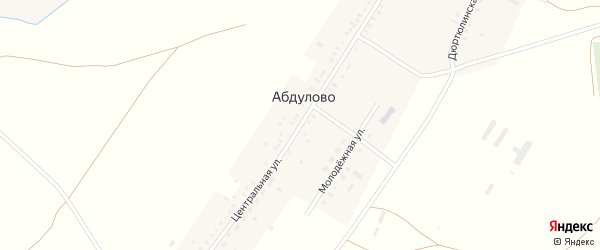 Центральная улица на карте села Абдулово с номерами домов