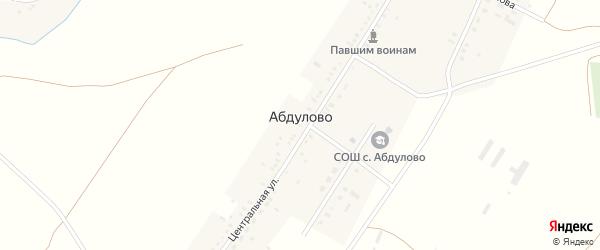 Молодежная улица на карте села Абдулово с номерами домов