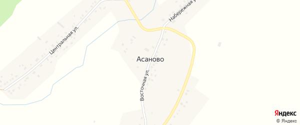 Набережная улица на карте села Асаново с номерами домов