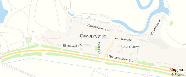 Карта поселка Самородово города Оренбурга в Оренбургской области с улицами и номерами домов