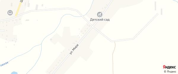 Улица Мира на карте деревни Матвеевки с номерами домов