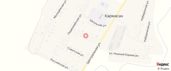 Улица Мира на карте села Кармасана с номерами домов