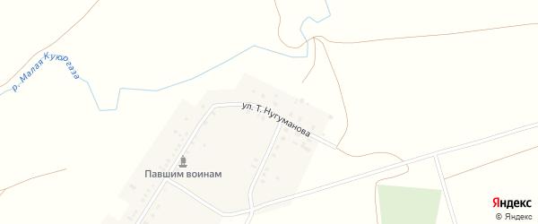 Улица Т.Нугуманова на карте села Абдулово с номерами домов