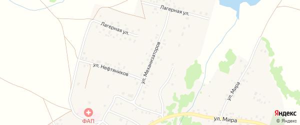 Улица Механизаторов на карте села Старого Курдыма с номерами домов