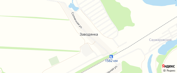 СТ СНО Нур на карте деревни Заводянки с номерами домов