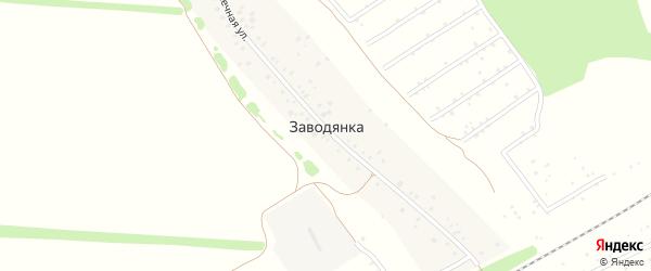 Солнечная улица на карте деревни Заводянки с номерами домов
