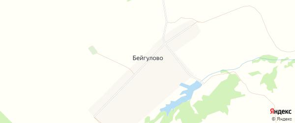 Карта села Бейгулово в Башкортостане с улицами и номерами домов