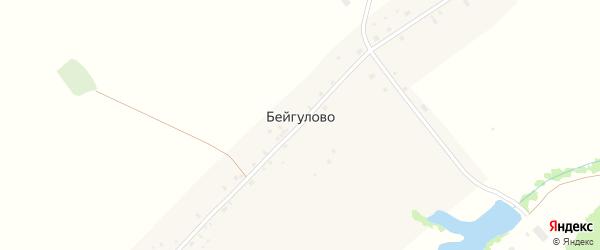 Бейгуловская улица на карте села Бейгулово с номерами домов