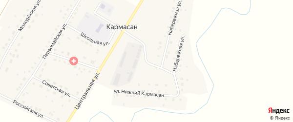 Улица Нижний Кармасан на карте села Кармасана с номерами домов