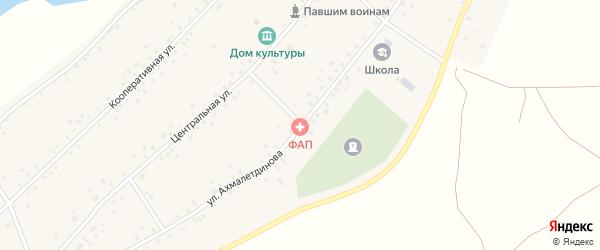 Улица Ахмалетдинова на карте села Ахметово с номерами домов