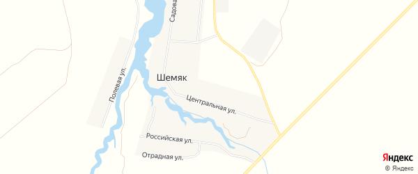 Карта села Шемяка в Башкортостане с улицами и номерами домов