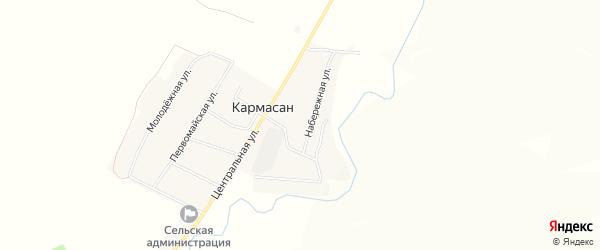 СНТ Кармасан на карте Уфимского района с номерами домов
