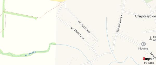 Улица Муса Гали на карте села Старомусино с номерами домов