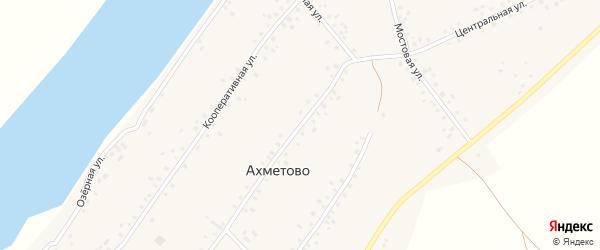Центральная улица на карте села Ахметово с номерами домов