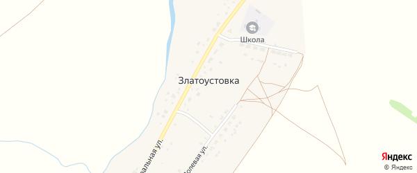 Полевая улица на карте деревни Златоустовки с номерами домов