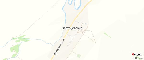 Карта деревни Златоустовки в Башкортостане с улицами и номерами домов