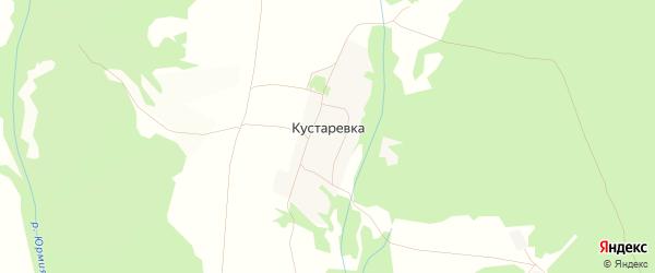 Карта деревни Кустаревки в Башкортостане с улицами и номерами домов