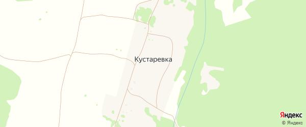 Улица Башарова на карте деревни Кустаревки с номерами домов