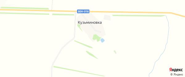 Карта деревни Кузьминовки в Башкортостане с улицами и номерами домов