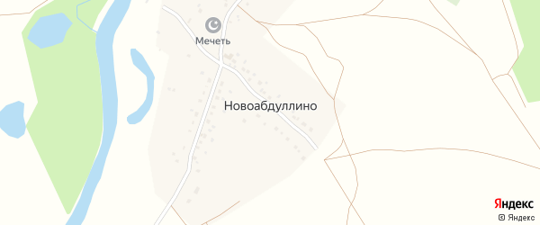 Полевая улица на карте деревни Новоабдуллино с номерами домов