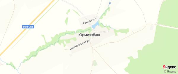 Карта деревни Юрмиязбаша в Башкортостане с улицами и номерами домов