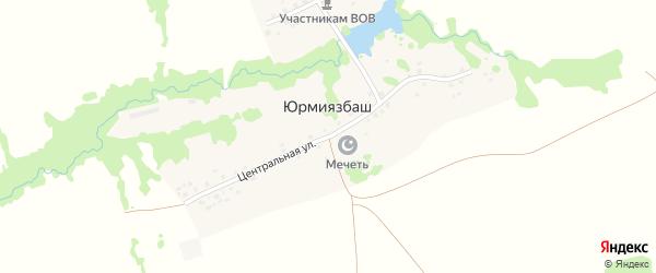 Центральная улица на карте деревни Юрмиязбаша с номерами домов
