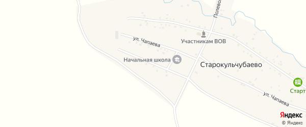Школьная улица на карте деревни Старокульчубаево с номерами домов