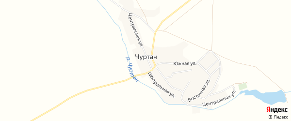 Карта деревни Чуртана в Башкортостане с улицами и номерами домов
