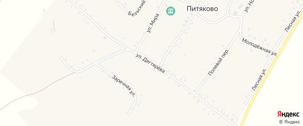 Улица Дегтярева на карте села Питяково с номерами домов