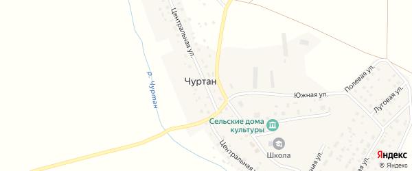 Центральная улица на карте деревни Чуртана с номерами домов
