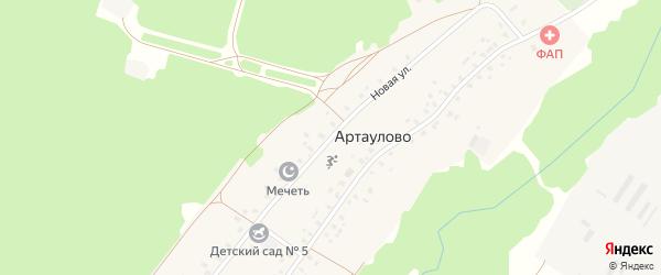 Новая улица на карте деревни Артаулово с номерами домов
