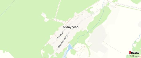 Карта деревни Артаулово в Башкортостане с улицами и номерами домов