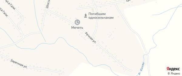 Речная улица на карте села Старомусино с номерами домов