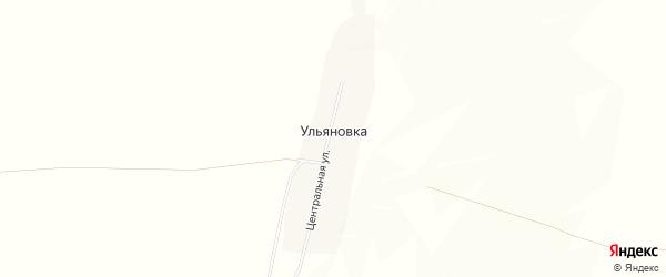 Карта деревни Ульяновки в Башкортостане с улицами и номерами домов