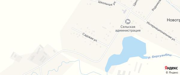 Садовая улица на карте Новотроицкого села с номерами домов