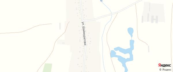 Улица Шаймуратова на карте села Турумбета с номерами домов