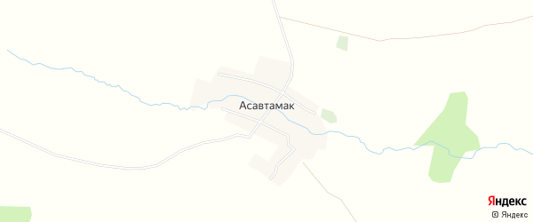 Карта деревни Асавтамака в Башкортостане с улицами и номерами домов