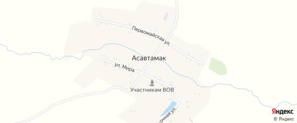 Восточная улица на карте деревни Асавтамака с номерами домов
