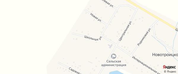 Школьная улица на карте Новотроицкого села с номерами домов
