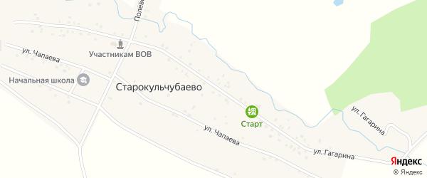 Улица Гагарина на карте деревни Старокульчубаево с номерами домов