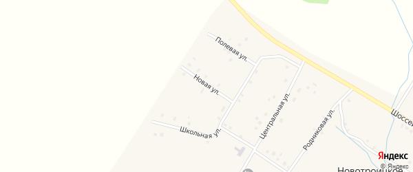 Новая улица на карте Новотроицкого села с номерами домов