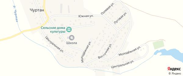 Молодёжная улица на карте деревни Чуртана с номерами домов