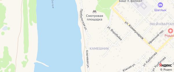 Прибельская улица на карте Бирска с номерами домов