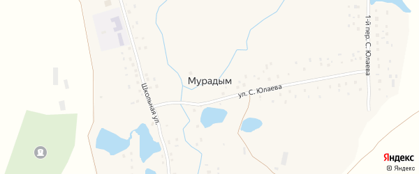 Школьная улица на карте деревни Мурадыма с номерами домов