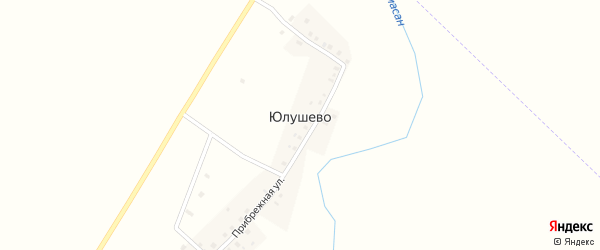 Садовая улица на карте деревни Юлушево с номерами домов