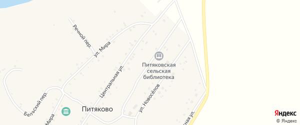 Первомайская улица на карте села Питяково с номерами домов