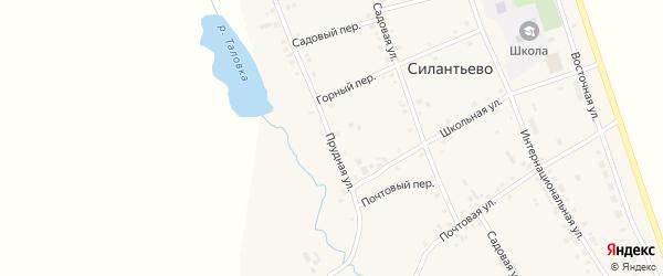 Прудная улица на карте села Силантьево с номерами домов