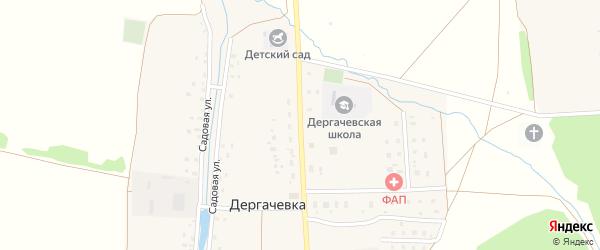 Улица Дружбы на карте деревни Дергачевки с номерами домов