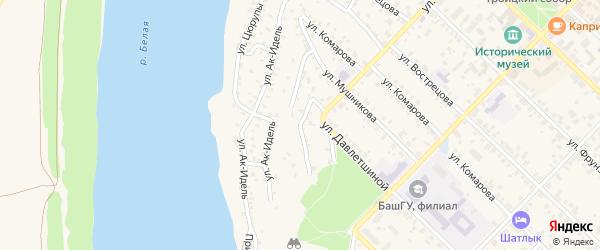 Улица Ак-Идель на карте Бирска с номерами домов